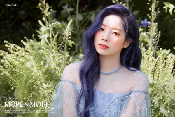 "TWICE Dahyun Displays Breathtaking Visual and Blue Hair in ""MORE & MORE"" Teaser"