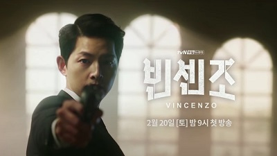 "Song Joong Ki is Sleek and Serious in First Trailer for ""Vincenzo"""